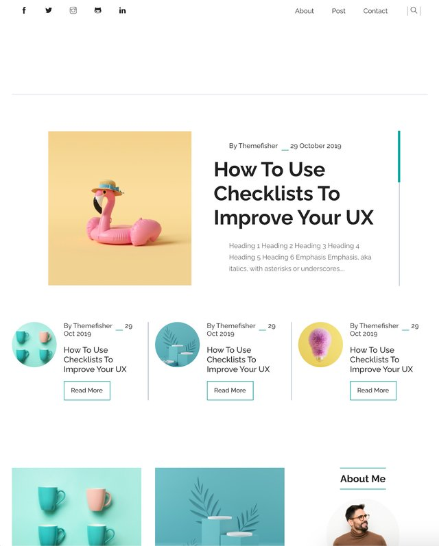Liva Blog theme Clean and colorful
